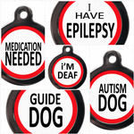 Medical & Assistance Dog Tags